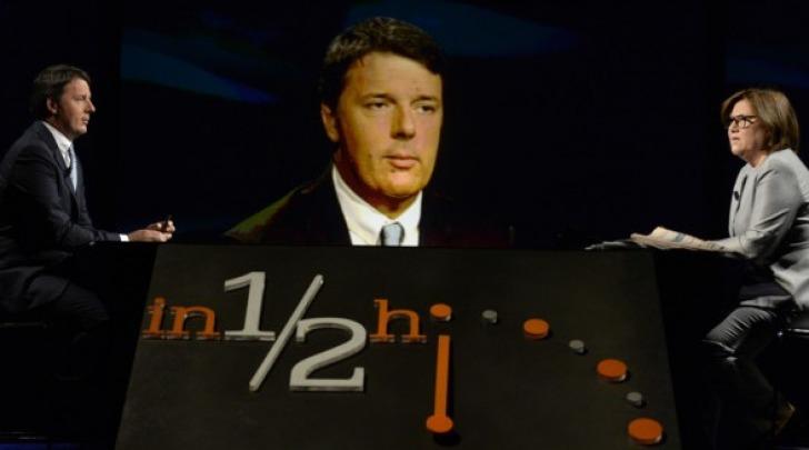 Matteo Renzi ospite di Lucia Annunziata a 'In mezz'ora'