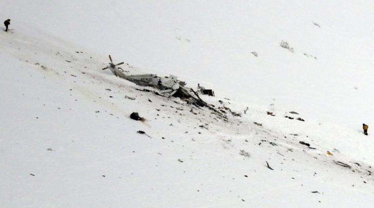 Elicottero 118 precipitato a L'Aquila