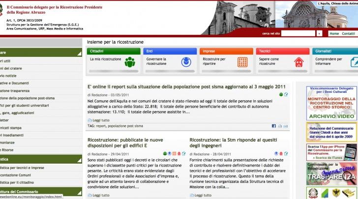 il sito del commissario Gianni Chiodi
