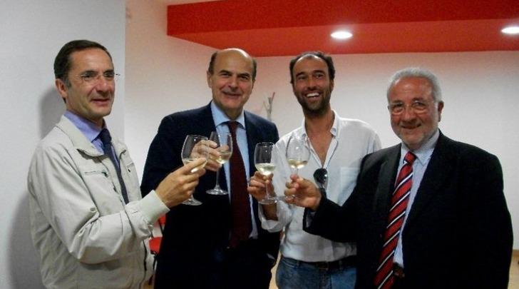 Bersani con Mazzetti, Di Benedetto e Mariotti