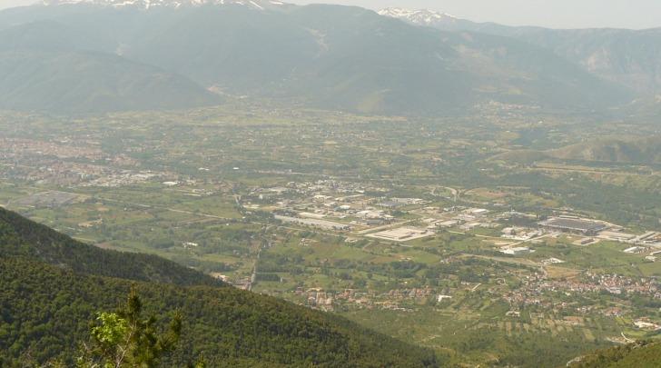 Una veduta della Valle Peligna