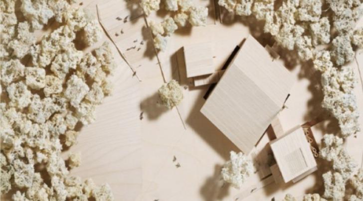 Il modello dell'Auditorium nel Parco del Castello