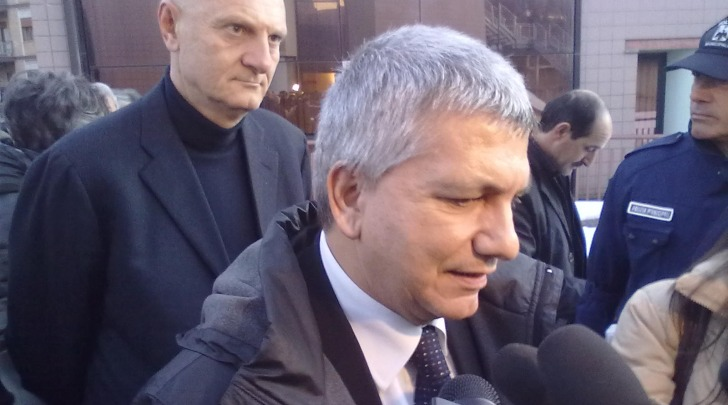 Nichi Vendola all'Aquila