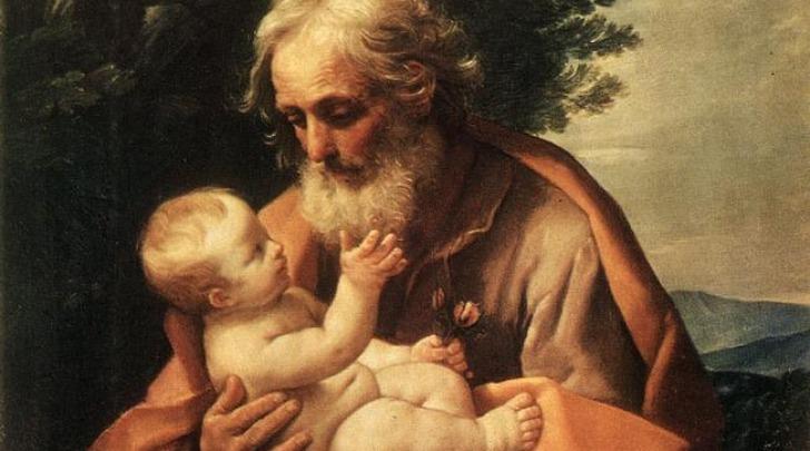 Saint Joseph with the Infant Jesus di Guido Reni, 1635
