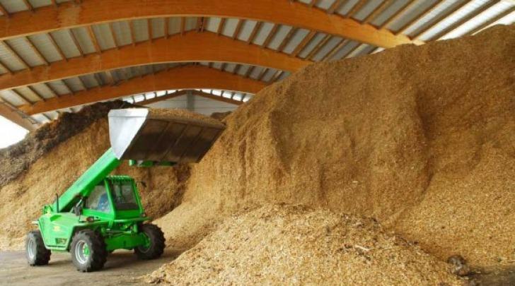 Una centrale a biomasse