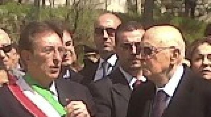 Giorgio Napolitano e Massimo Cialente