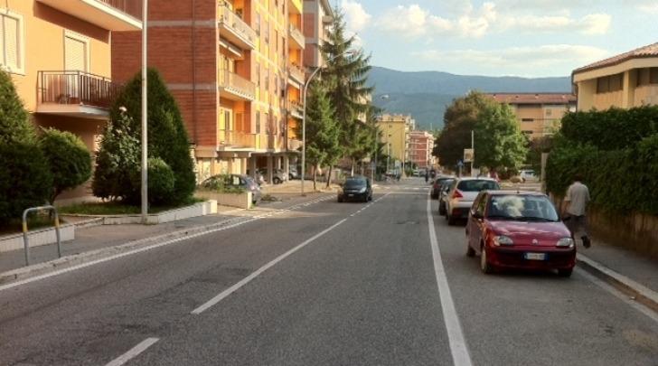 Un tratto di Via Strinella