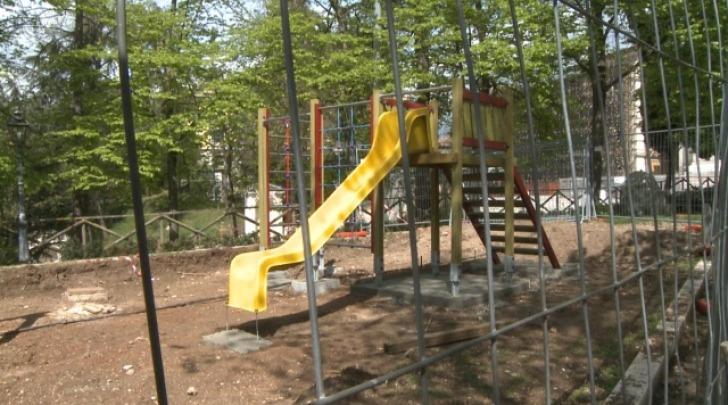 Il parco in fase di realizzazione