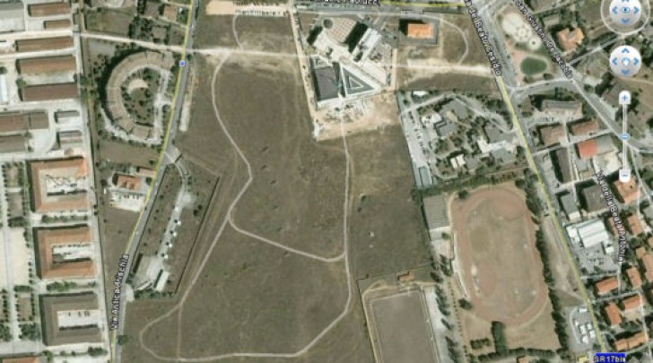 Piazza d'armi vista dal satellite