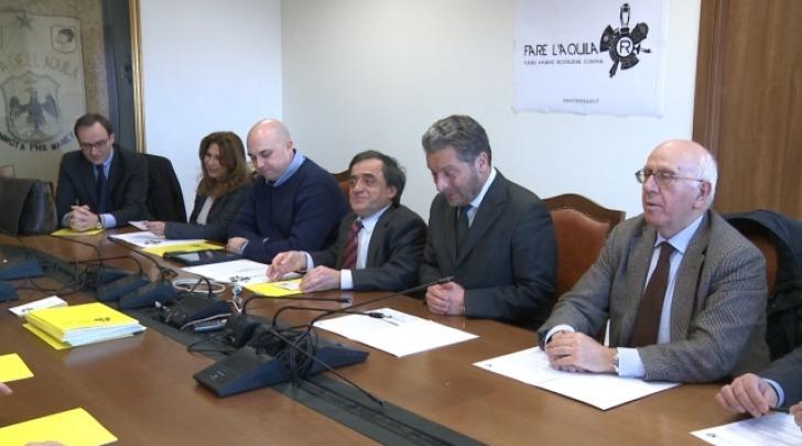 La conferenza stampa di presentazione di Fare L'Aquila