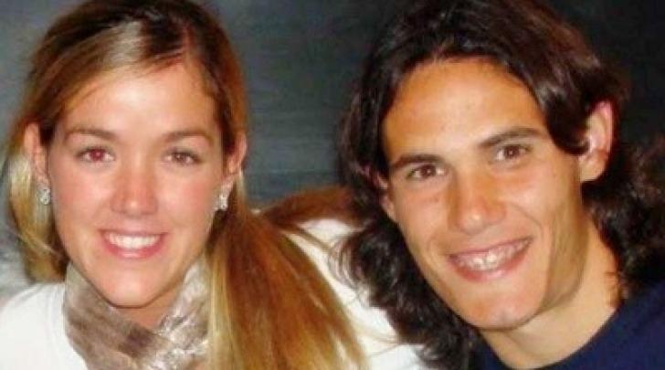 Edinson Cavani e la moglie Maria Soledad
