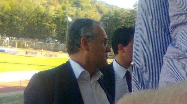 Il presidente Lotito allo Stadio Angelini