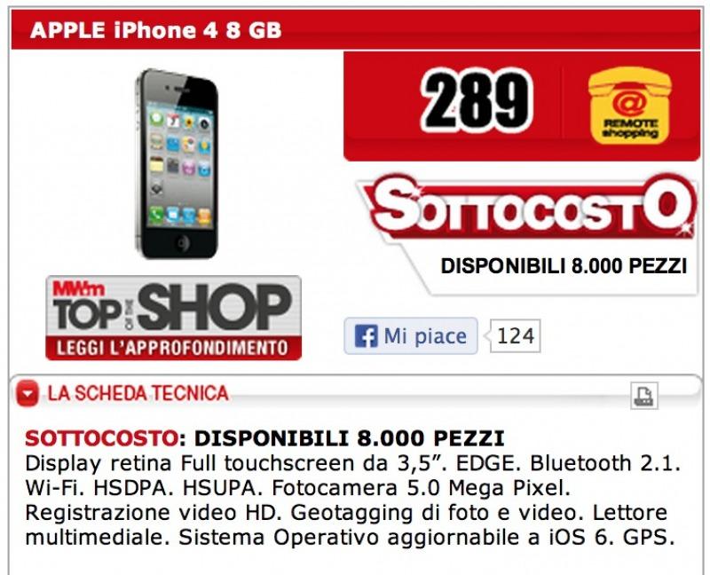 offerta iphone 4 nuovo