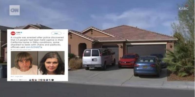 Scoperta casa degli orrori in california 13 fratelli for Catene arredamento casa