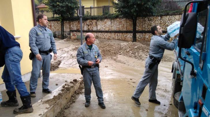 corpo forestale aiuti alluvionati